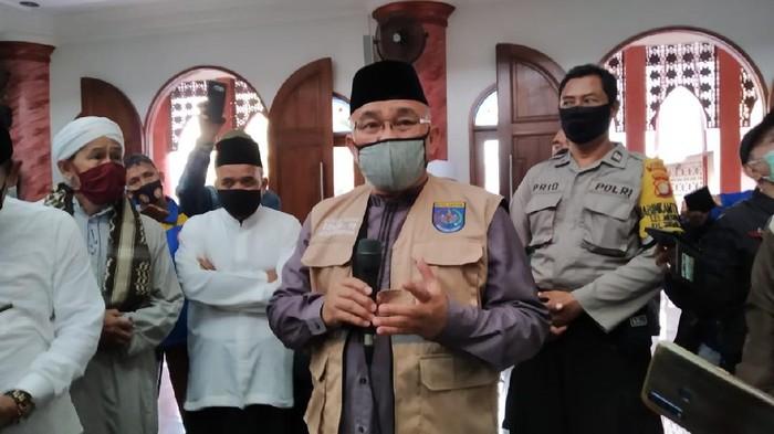 Wali Kota Depok M Idris Cek Kesiapan Salat Berjemaah di Masjid Jelang New Normal (Wilda Hayatun Nufus/detikcom)